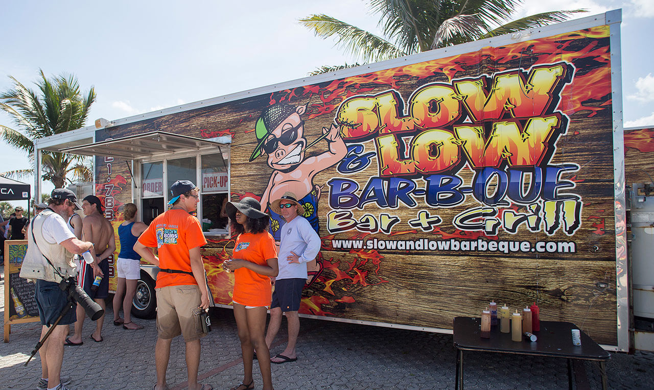 Slow & Low BBQ Food truck at Beach 'N Boards Fest